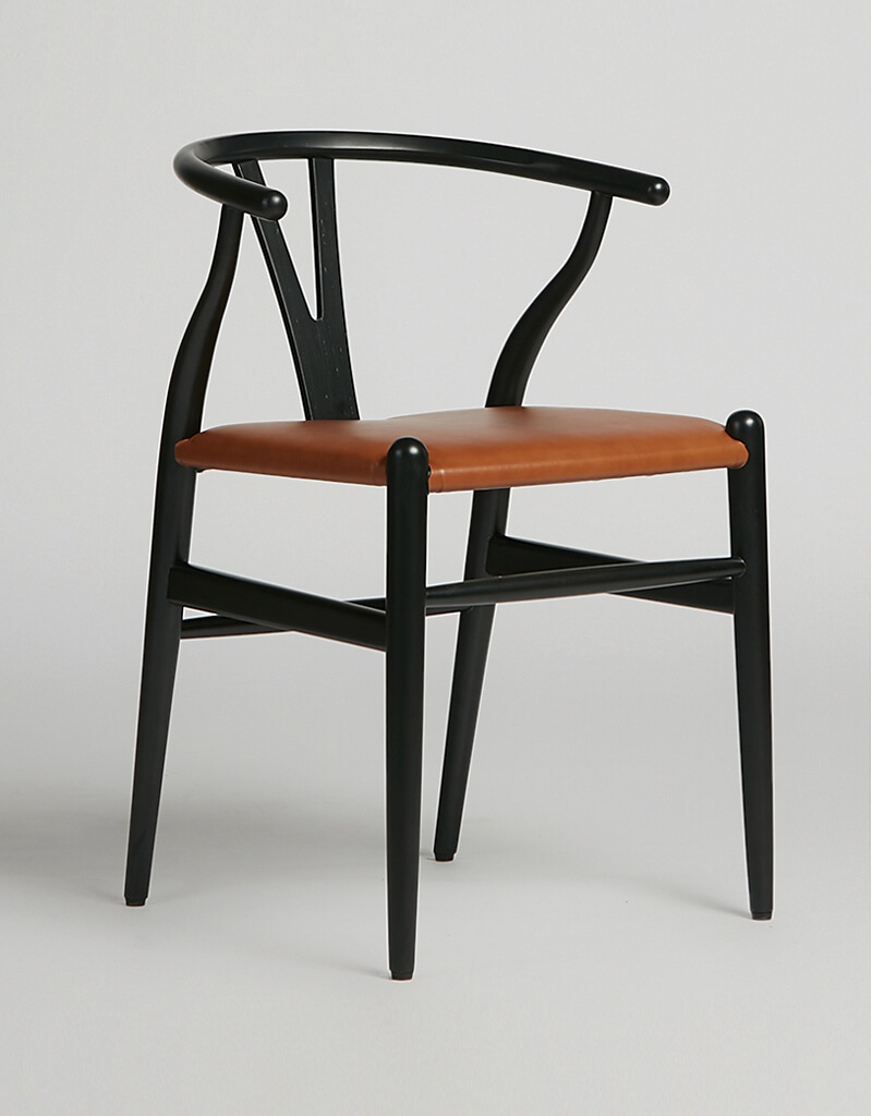 Wish Chair Black Leather