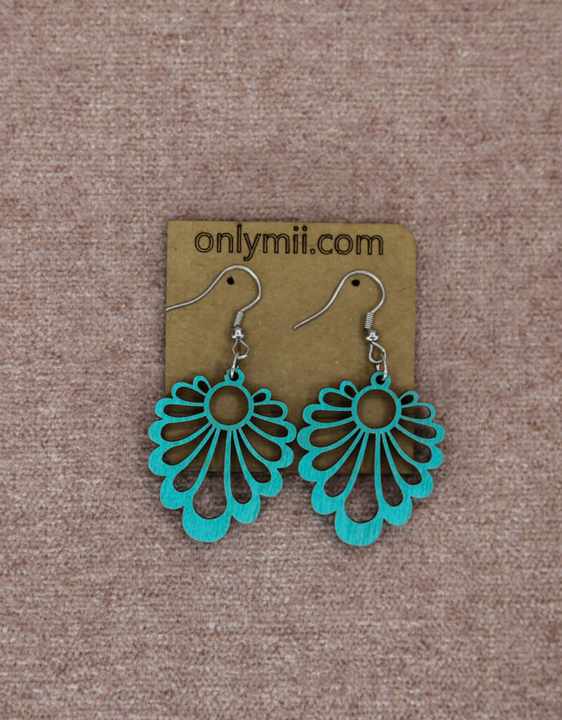 Wooden Hanging Earrings 3