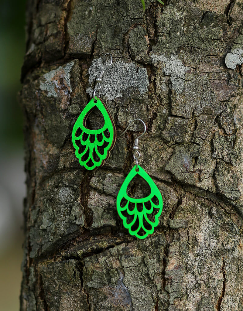 Wooden Hanging Earrings 5